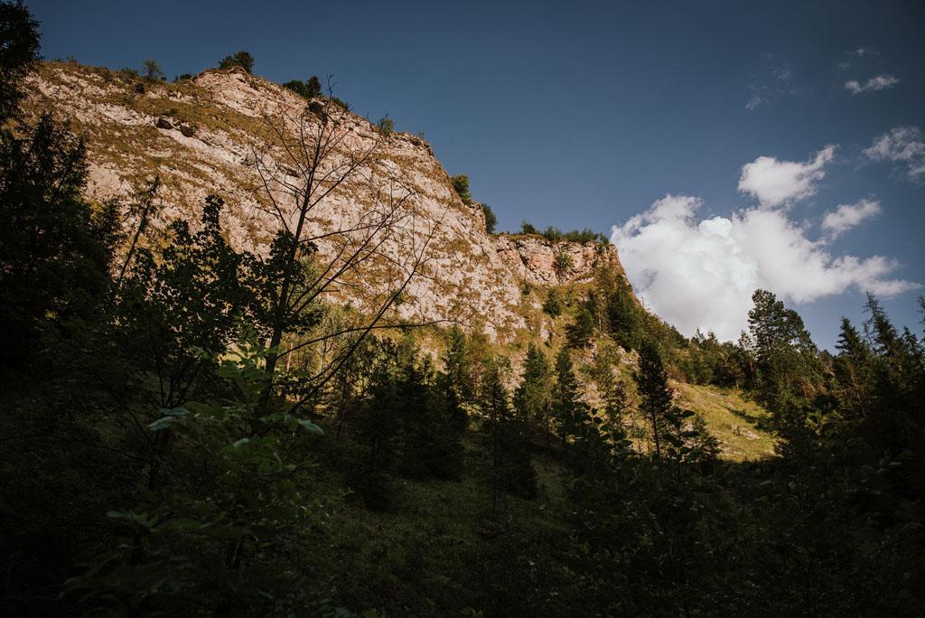 plener ślubny w wąwozie homole - góry