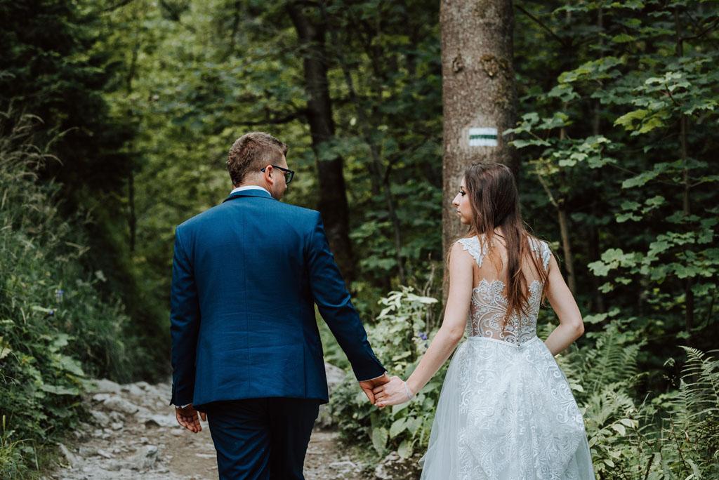 sesja ślubna w wąwozie homole