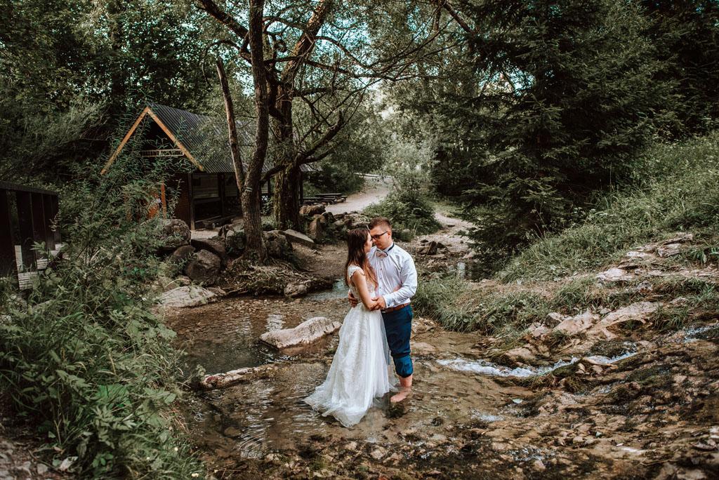 Wąwóz Homole idealne miejsce na plener ślubny